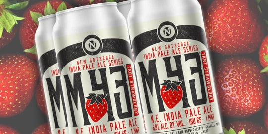 M-43 New Orthodox India Pale Ale Series Tart Strawberry.